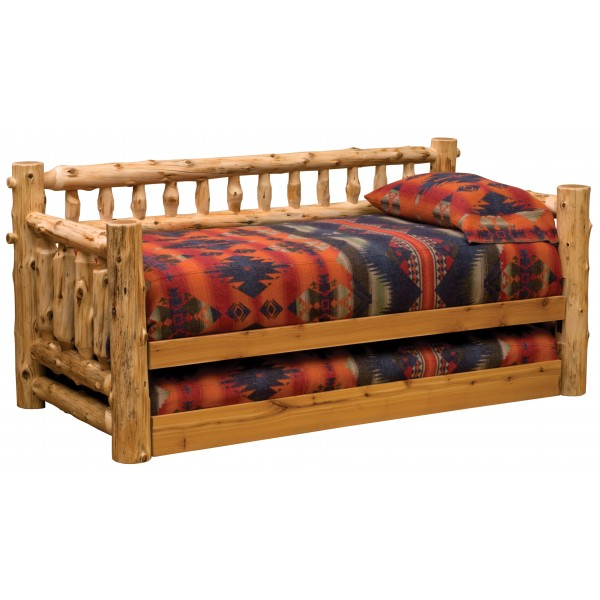 Fireside Cedar Daybed - Natural Cedar - WITHOUT Trundle