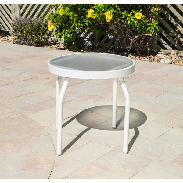 Acrylic Round Side Table - Round Tubing