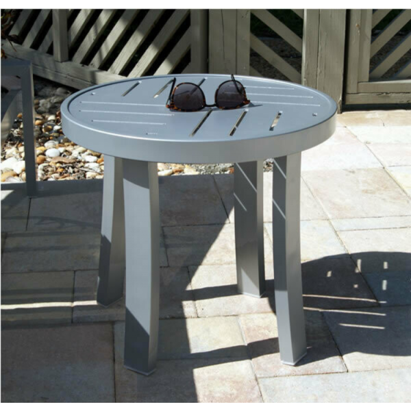 Heavy Duty Round Metal Side Table - Side Tables