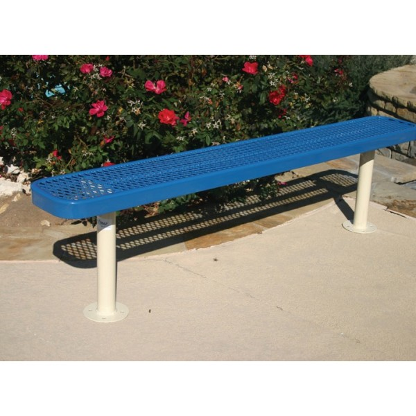 Rectangular Bench Without Back - Expanded Metal