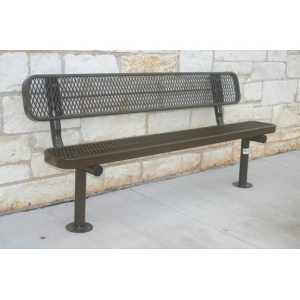 Traditional Park Bench With Back - Diamond Pattern