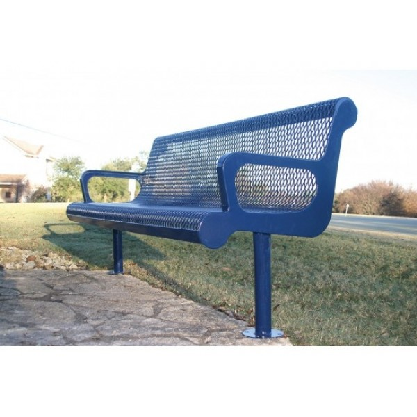 Standard Metal Sloped Bench - Expanded Steel - Benches