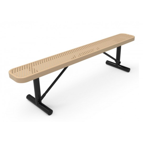 Rectangular Bench Without Back - Punched Metal - Benches