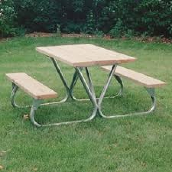 Standard Duty Picnic Table FRAME ONLY - Bolted 6 & 8 ft - Picnic Table Frames