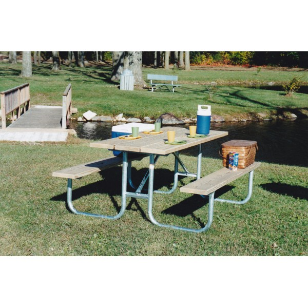 Standard Heavy Duty Picnic Table FRAME ONLY - Welded 6 & 8ft - Picnic Table Frames