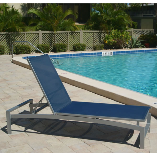 Skyline Sling Chaise with Aluminum Frame - Sling Chaise