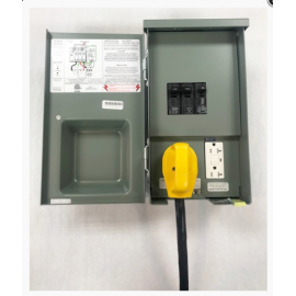 50 Amp RV Panel With 20A GFCI - Surface Mount Box