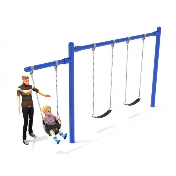 Single Post Swing With Cantilever