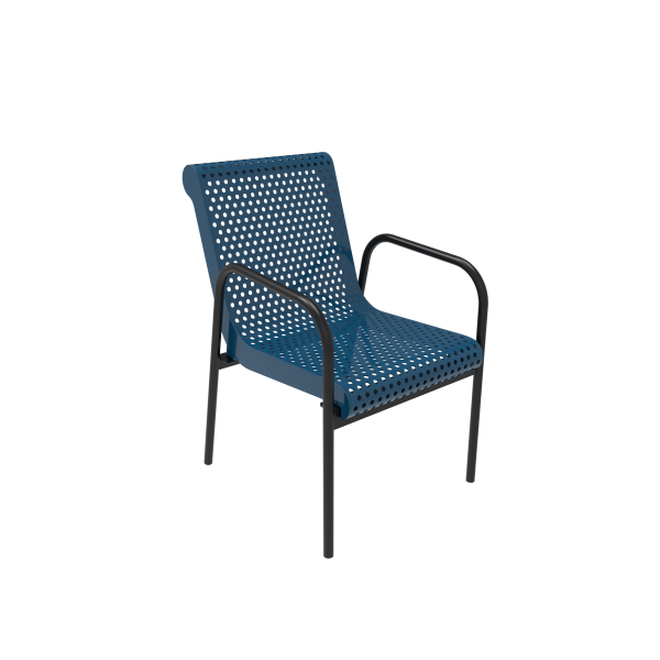 Punched Steel Stacking Chair - Benches